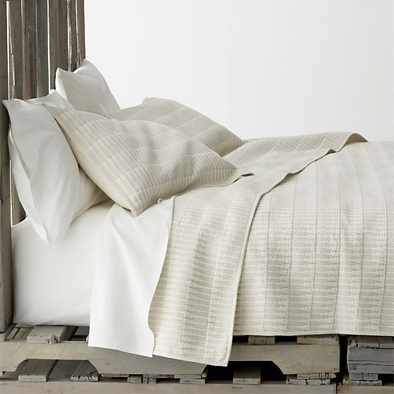 Stratton Bed Linens in Quilts, Coverlets | Crate and Barrel