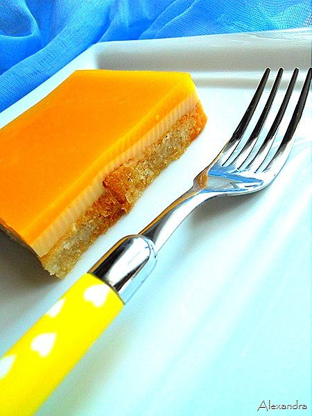 Γλυκό ψυγείου με κρέμα πορτοκάλι