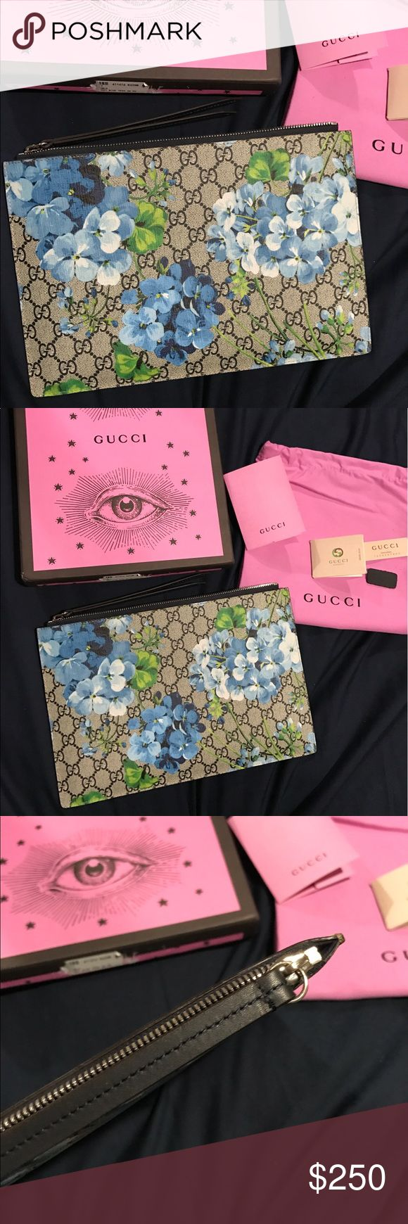 GUCCI BLOOMS FLORAL CLUTCH BAG  Brand new! Amazing quality. Real leather. Large size clutch bag. Comes with box and dustbag. PRICE R E F L E C T S !!! No trades! No low balling Gucci Bags Clutches & Wristlets