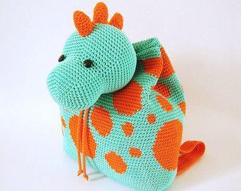 Gehaakt patroon voor hippo rugzak. Leuk en door chabepatterns