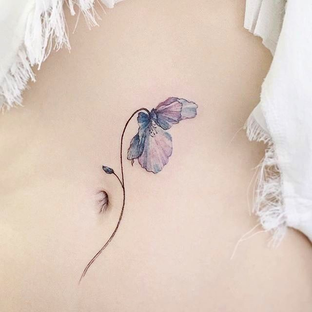 Incredibly delicate flower tattoo  | by @Tattooist_flower tap for credit :) by inspirational_tattoos_ideas