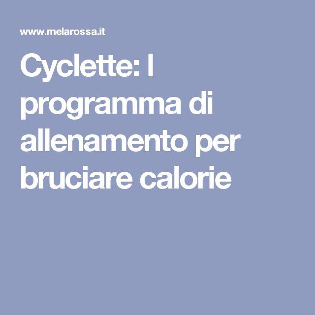 Cyclette: l programma di allenamento per bruciare calorie