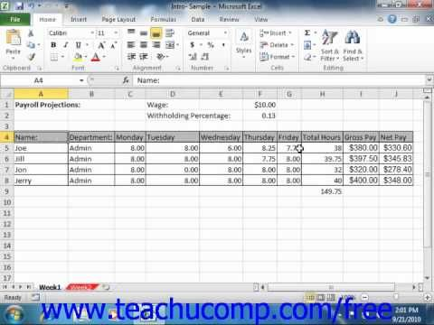 Learn about Excel a worksheet in Microsoft Excel at http://www.teachucomp.com. A clip from Mastering Excel Made Easy v. 2010. Get the complete tutorial FREE at http://www.teachucomp.com/free - the most comprehensive Excel tutorial available. Visit us today!