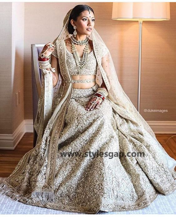 White indian wedding dresses pictures