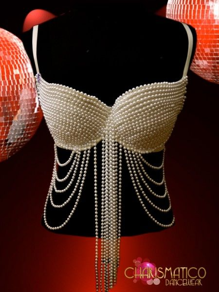 Charismatico Dancewear Store - Gorgeous Showgirl Burlesque Sexy GOGO pearl bra, $130.00 (http://www.charismatico-dancewear.com/products/Gorgeous-Showgirl-Burlesque-Sexy-GOGO-pearl-bra.html)