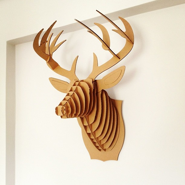 25 Best Ideas About Cardboard Deer Heads On Pinterest Mounted Deer Heads Cardboard Animals