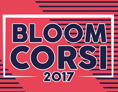 """Check out new work on my @Behance portfolio: """"BLOOM CORSI 2017"""" http://be.net/gallery/49246389/BLOOM-CORSI-2017"""