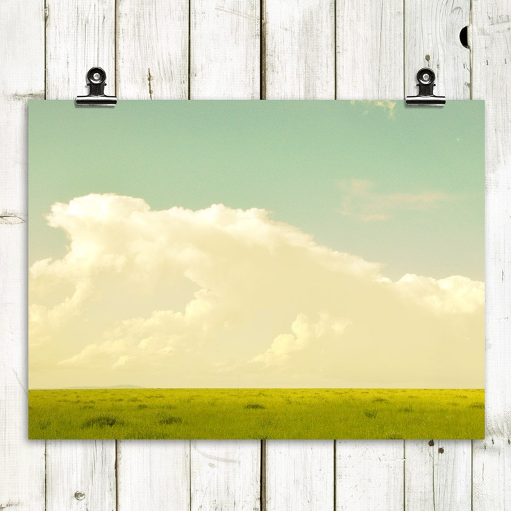"landscape photography, modern home decor, large wall art, minimalist landscape, rustic, clouds - ""Heavenly"" - 8x10 Fine Art Photograph. $20.00, via Etsy."