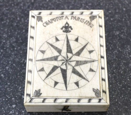 Carved Bone Cased Compass in 18th Century Style now available in store or via ebay & etsy http://stores.shop.ebay.co.uk/retriques / www.etsy.com/shop/Retriques