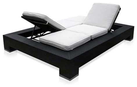 Outdoor Duo Convertible Lounger Outdoor Convertible lounger - modern - outdoor chaise lounges - other metros - modani.com