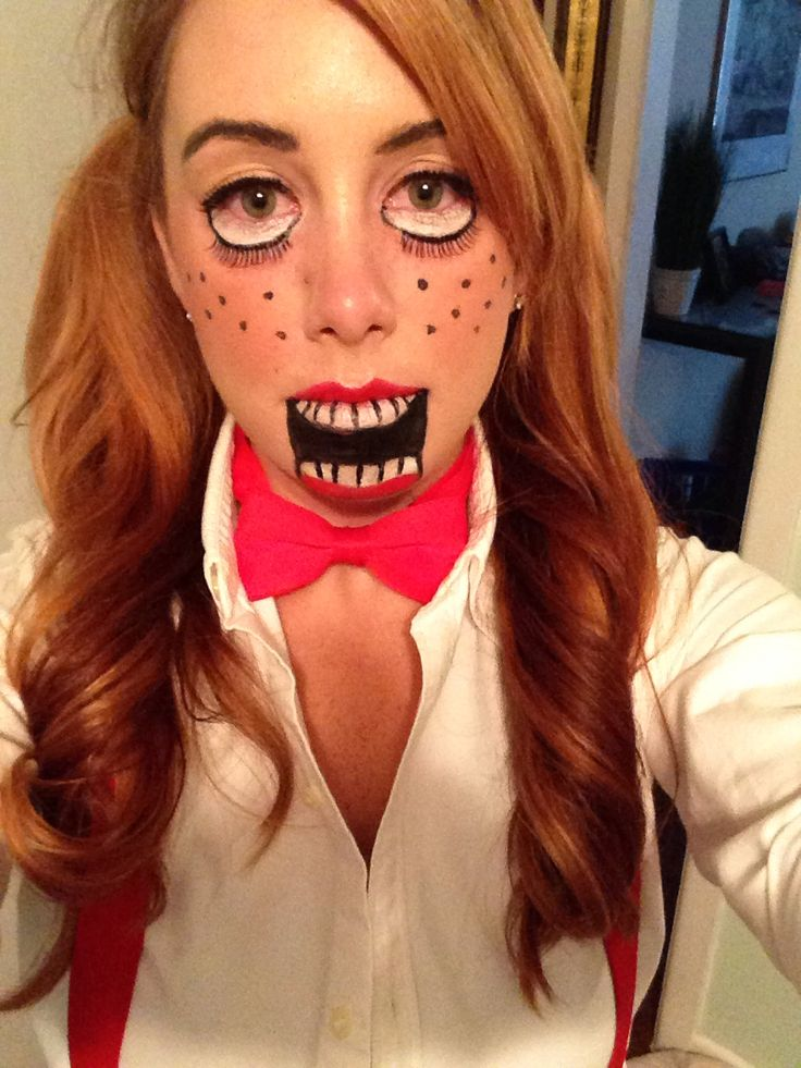 face paint diy marionette doll or puppet halloween makeup my style pinterest halloween makeup puppet makeup and halloween ideas - Puppet Halloween