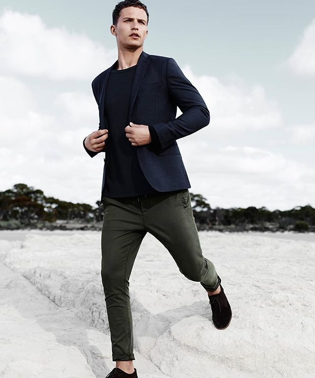 Smart casual styles to leap into spring.  25% off men's jackets, denim, knits, shoes & accessories (AU & NZ) #witcherystyle