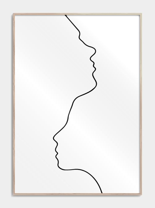 Two in one line drawing – Josefine Westerlund
