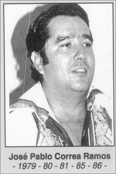 José Pablo Correa Ramos 1979-1980-1981-1985-1986