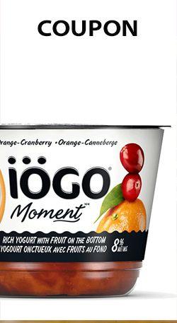 Coupon IÖGO Moment pour les formats 4 x 100 gr ou 1 x 500 gr. http://rienquedugratuit.ca/coupons/iogo-moment/