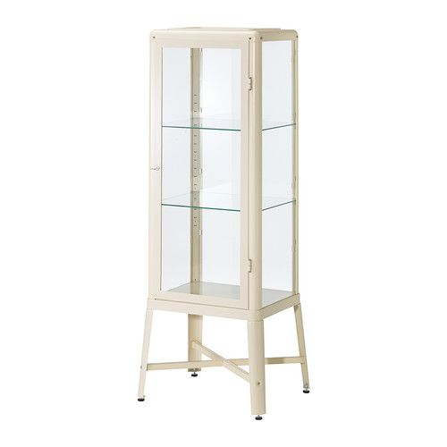 Affordable IKEA finds for easy home decorating ideas at @Stylecaster | Fabrikor Glass-Door Cabinet, $199