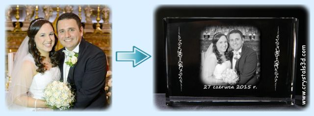 Wedding picture - conversion for crystal engraving. #wedding