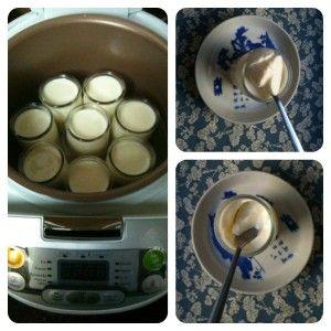 Yaourts au naturel J'ai testé la réalisation de yaourts. Le multicuiseur à bien travaillé cette nuit et nous a fait de délicieux yaourts, bien crémeux avec une très agréable consistance. Pour mes 8 pots : 1 yaourt nature, 75 cl de lait entier. - Dans...
