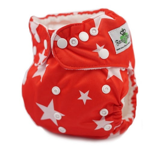 Fancy Pants Diapers. Stars White on Red Silky-stars, red, USA, america, patriot, holiday, boy, girl, silky: Girl, Holiday Cloth, Baby Boy