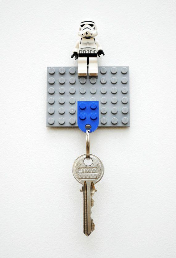 DIY Lego Key Holder has Stormtrooper Minifig Guarding Keys : Discovery Channel