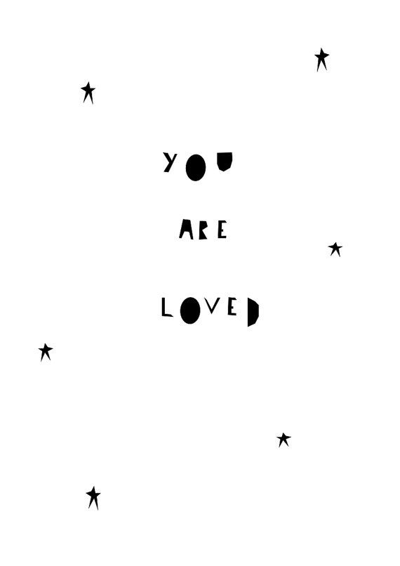 You Are Loved Print van IngridPetrieDesign op Etsy