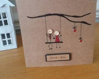 carte d'anniversaire - amour - romantique - anniversaire - mariage - à la main dessiné-salutations-ruby mariage-copine-femme-petit ami-mari-love vous