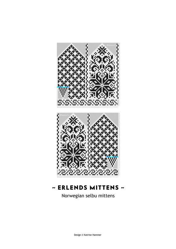 Erlends Mittens Pattern  Selbu   Pattern  by silverishmoon on Etsy, $6.00