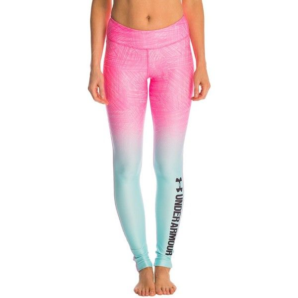 Under Armour Womens Armour ColdGear Sublimated Legging ($70) ❤ liked on Polyvore featuring activewear, activewear pants, under armour and under armour sportswear