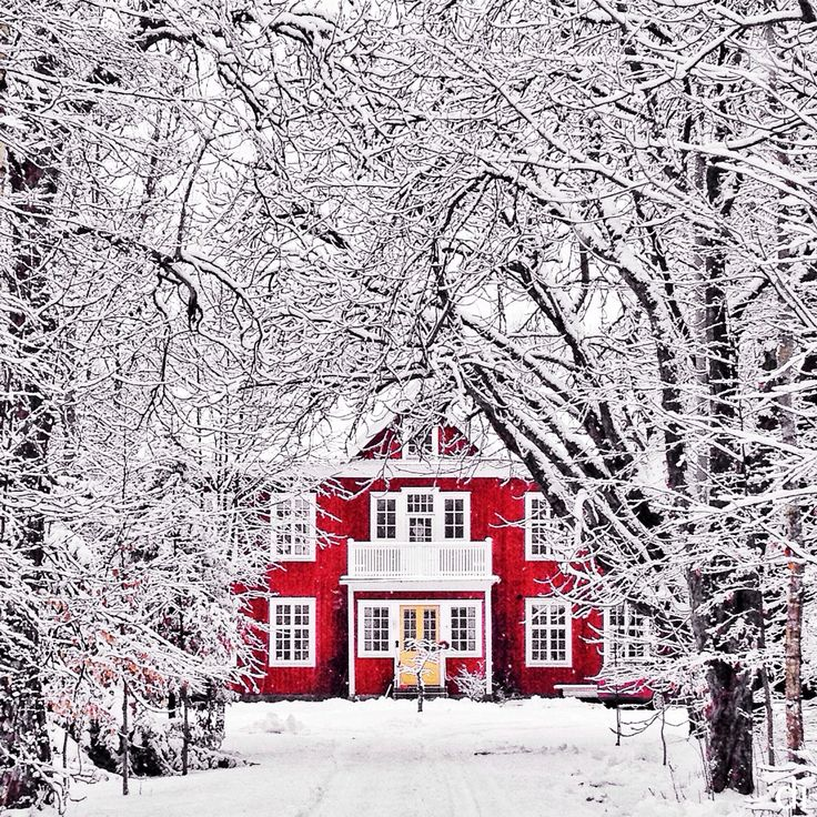 Makes me think of the type of real estate found in Narnia <3 Picture Edmond and the Queen passing by in her sleigh.