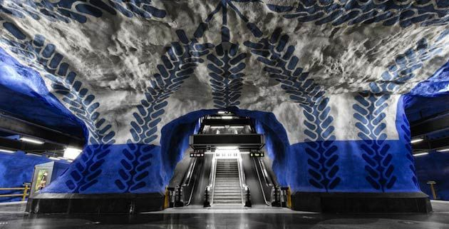 Started back in the 1950s, Stockholm Metro houses an incredible amount of interesting and unexpected art. So much so, in fact, that it's been called the world's longest art exhibition.