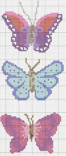 Trio de borboletas