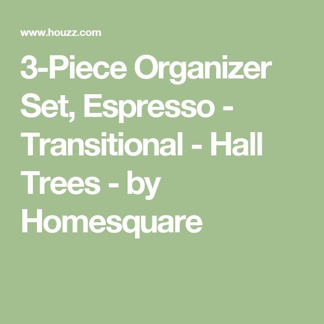 3-Piece Organizer Set, Espresso - Transitional - Hall Trees - by Homesquare