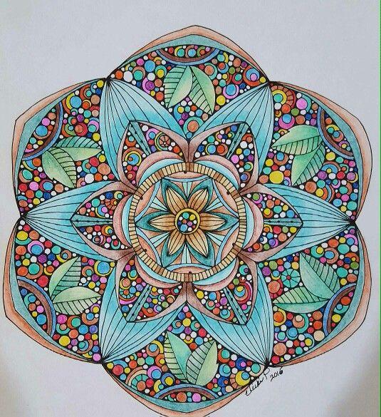 Funfettie! Colored by Vicki Patterson using pencils. Design by Valentina Harper.