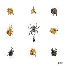 Cute pins! We love them  :) brooches from BERY and INSECTS collection by Anna Orska. #orska #annaorska #pin #pins #insects #brooch