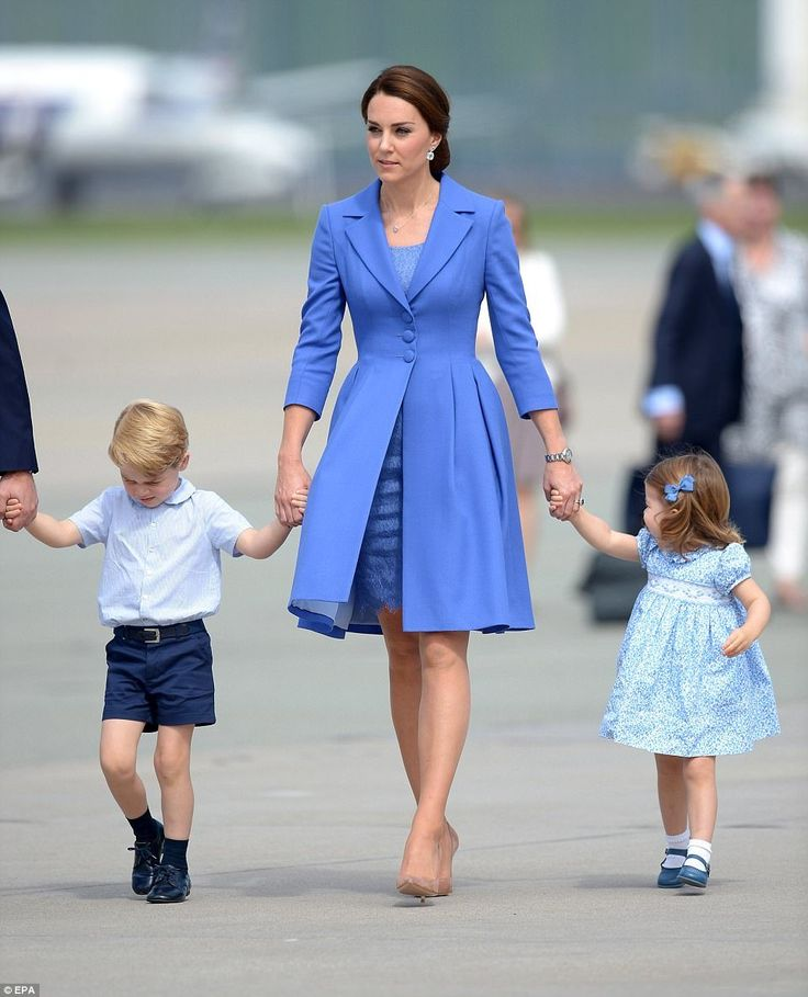 Duchess Kate, Prince George and Princess Charlotte at The Brandenburg Gate in Berlin, Germany, July 19th 2017.