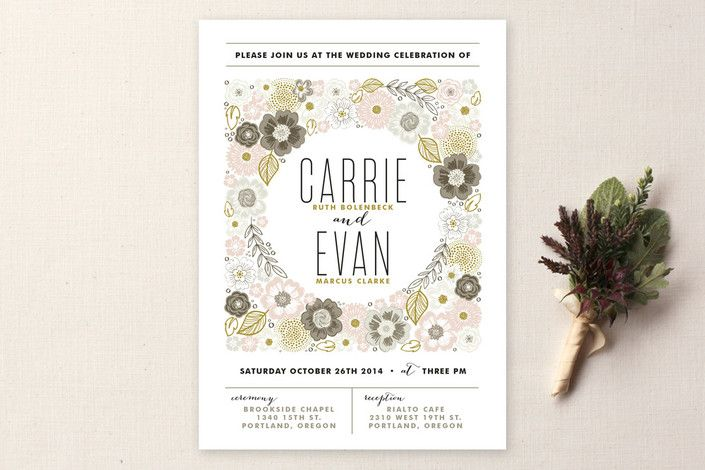 Flower Box Wedding Invitations by Alethea and Ruth at minted.com