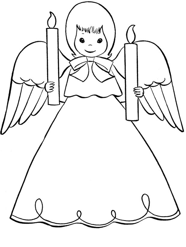 19 best Christmas Angel Coloring Page images on Pinterest ...