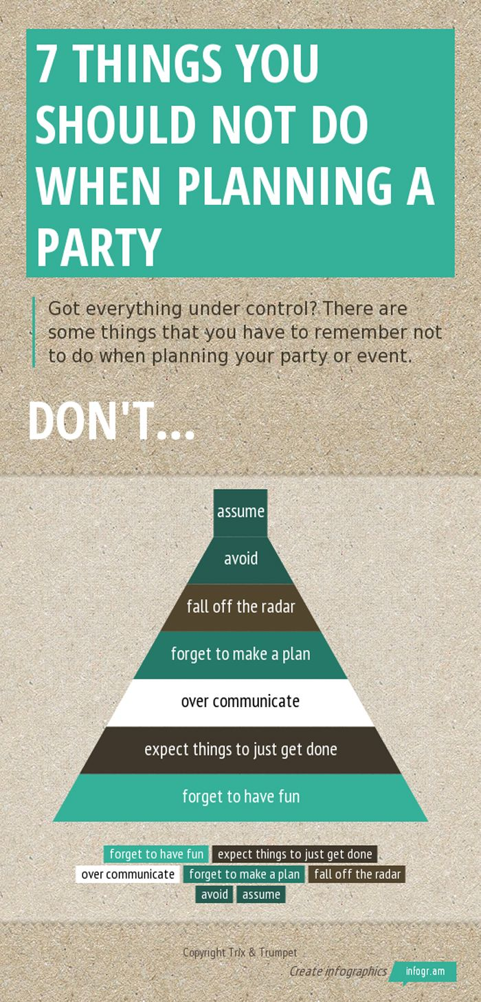 7 Things to NOT do when planning a party.