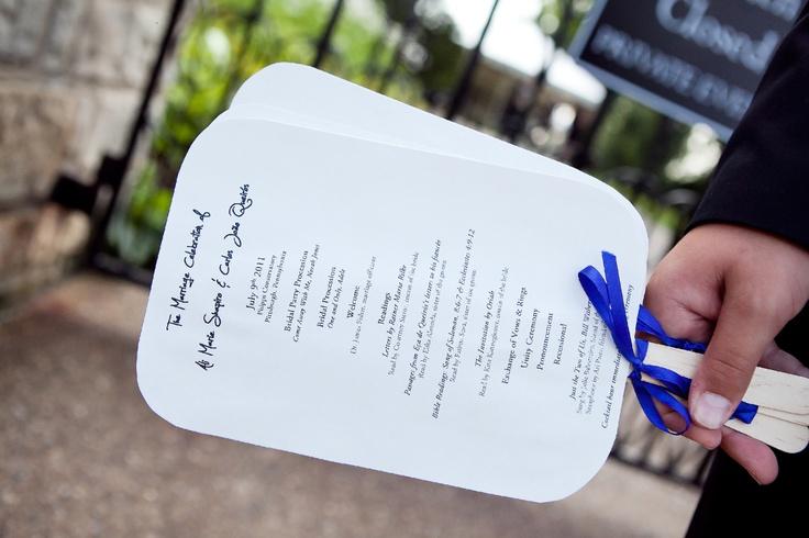 Wedding Programs - www.eaweddingplanner.com
