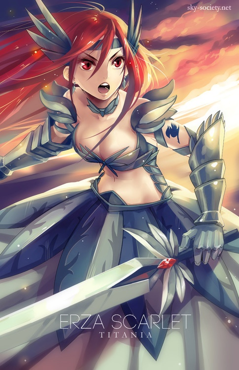 Fairy Tail  -  Erza Scarlet  -  http://anime.about.com/od/fairytail/ #FairyTail