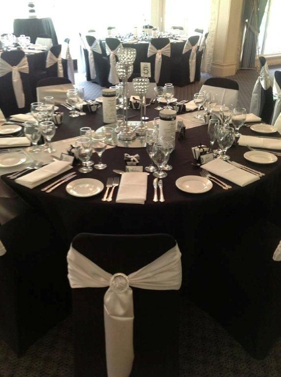 3 tiered silver centrepiece - perfect for this Black, White and Diamond theme