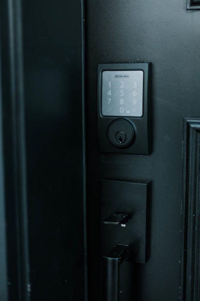 Update Your Front Door With A Keyless Door Lock These Amazing Smart Locks Can Be Controlled With An App Keyless Door Lock Door Locks Keyless Entry Door Locks