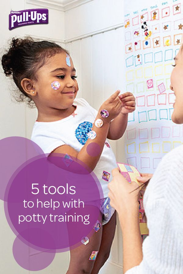 Potty training can be easier than you think with this collection of fun and helpful tools from Pull-Ups. Try using a sticker chart to keep your toddler on track and motivated to meet all her potty training goals. Stickers are an easy and inexpensive way to reinforce your child's behavior and let her know what a good job she's doing whenever she uses the bathroom on her own. Check out the rest of the website for more great potty training tools.