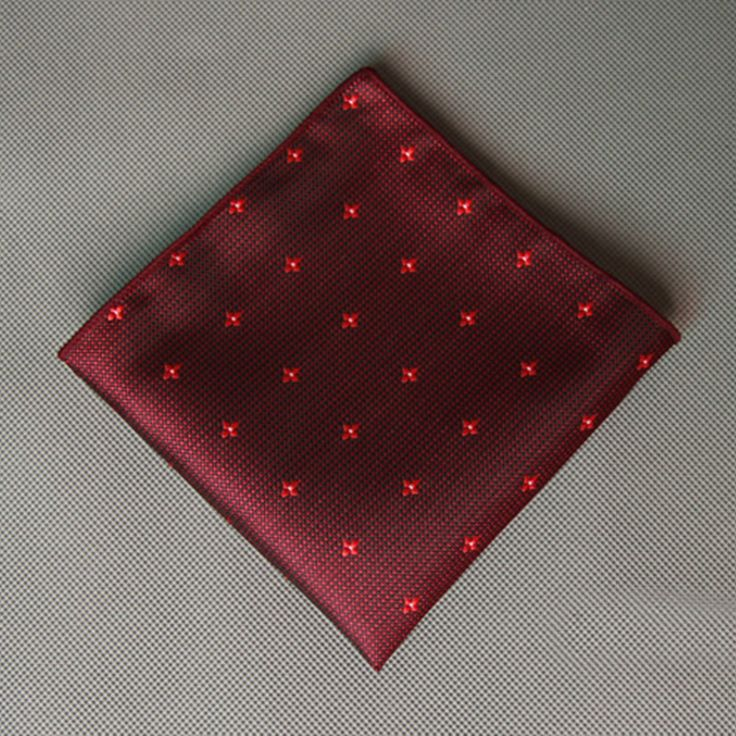 Mens Cotton Pocket Square - Pink and White Polka Dot by VIDA VIDA u7x3x