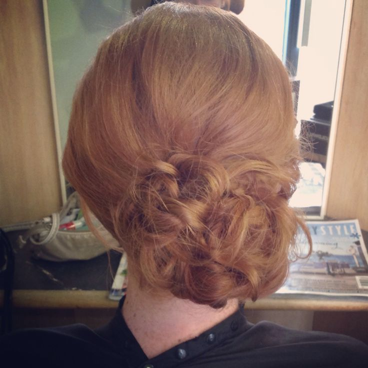 Messy updo for the wedding guest