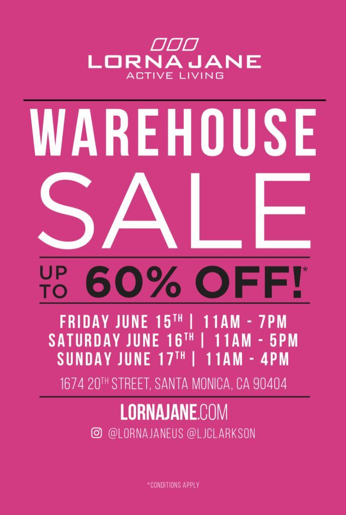 330e1b232d Lorna Jane Warehouse Sale from  lornajaneactive!  santamonica  samplesale   lornajane