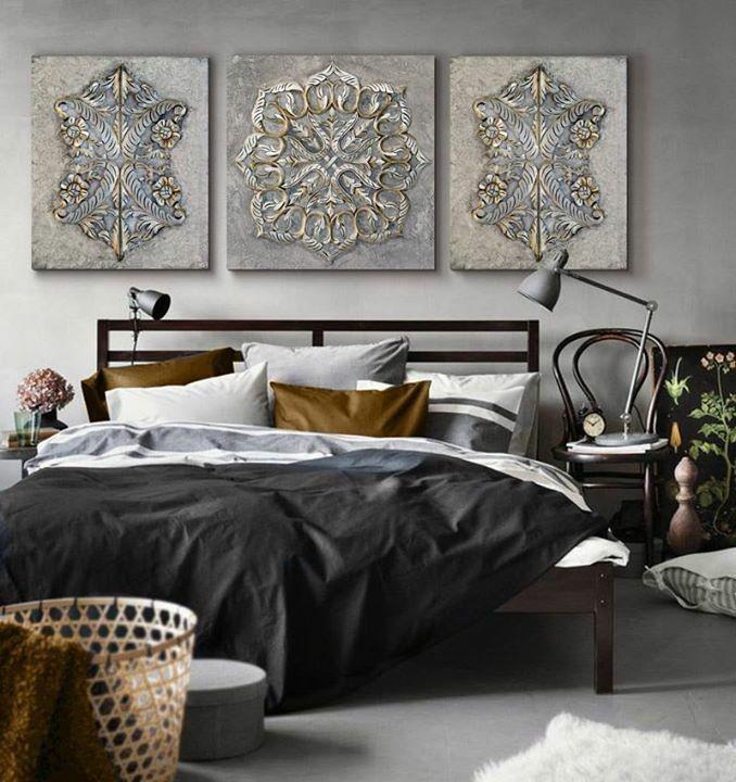 Cuadro cabecero cama decoracion dormitorios dormitorio - Cuadro dormitorio ...