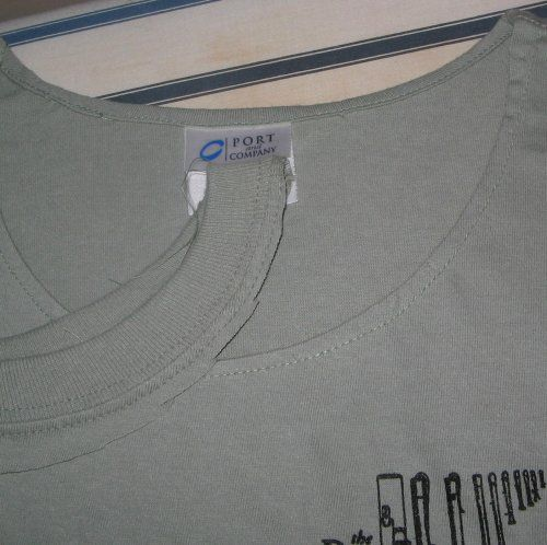 T-shirt neck Ribbing Removal.  Do you have a stash of guy t-shirts that you love but secretly wish they had a more feminine neckline? This is the easiest way to modify a t-shirt neckline.  And THE BEST EXPLANATION I've ever found. Yes I'm shouting!  http://fiber-fever.blogspot.com/2011/08/t-shirt-neck-ribbing-removal.html