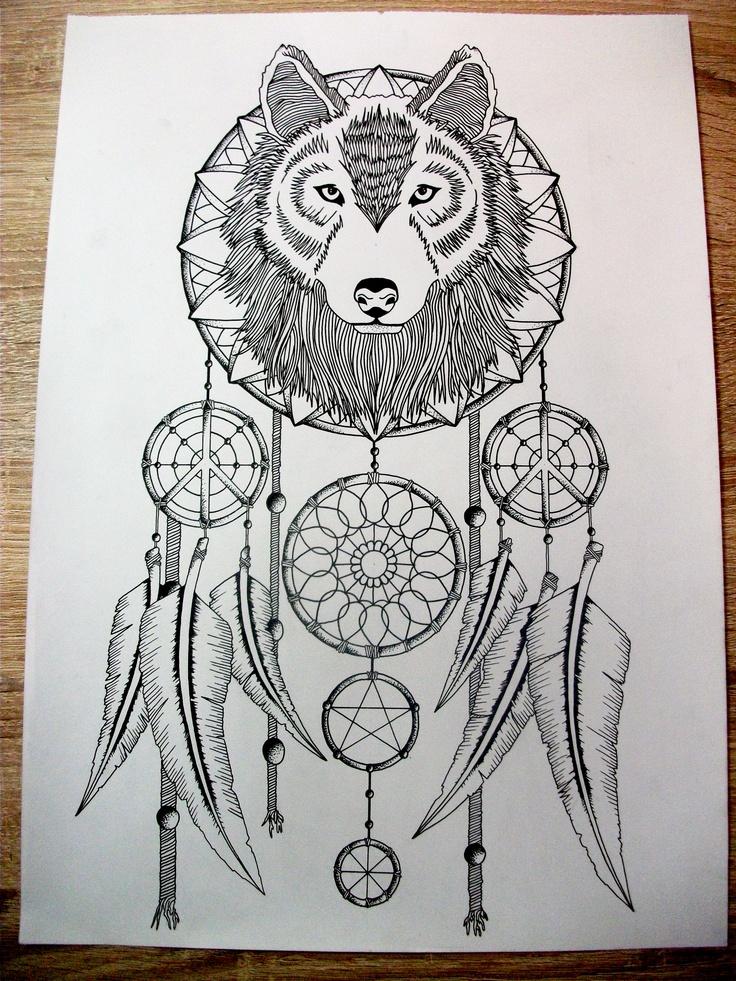 wolf dream catcher design  dream catcher drawing dream