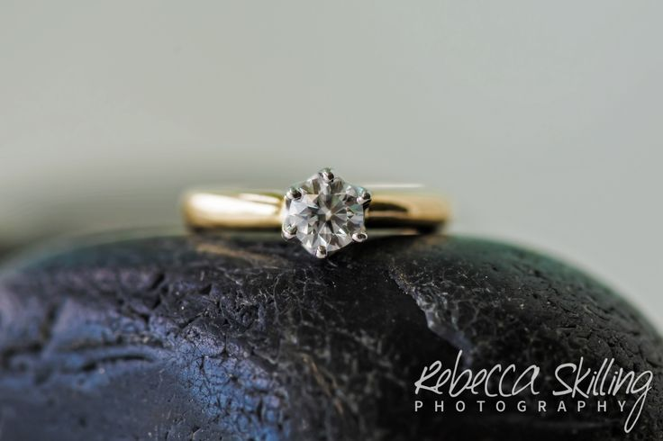 Everyone loves a rock. #diamondsareagirlsbestfriend #ring #engagementring